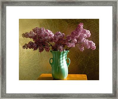 My Mother's Lilacs Framed Print by Wendy Blomseth