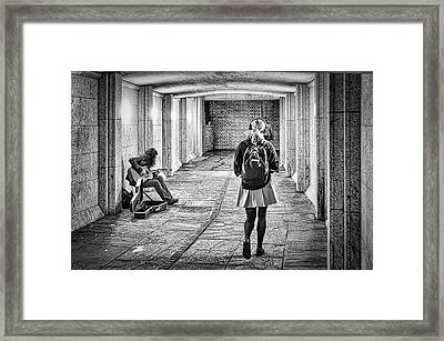 Framed Print featuring the photograph My Music Not Yours by Thomas Gaitley