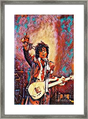 My Name Is    -  Prince Framed Print