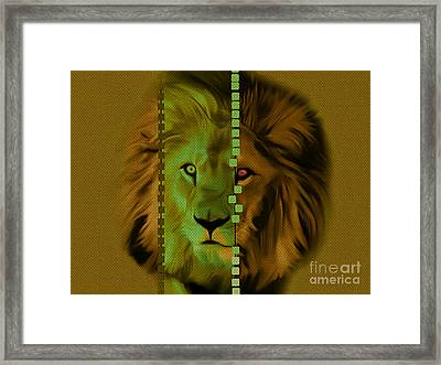 My Name Is Cecil Lion King Of Simbawe Framed Print