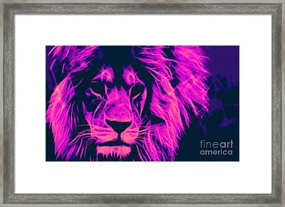 My Name Is Cecil Lion King Of Simbawe Pop Art Framed Print