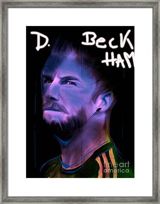 My Name Is David Beckham In Soccer Dress Framed Print