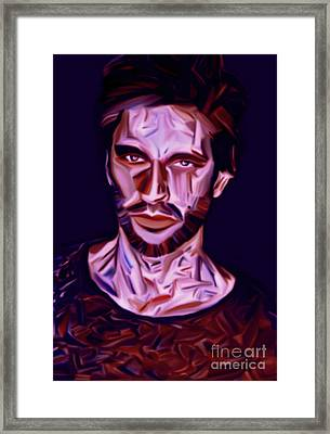 My Name Is Mauri Kiss Me Framed Print by Felix Von Altersheim
