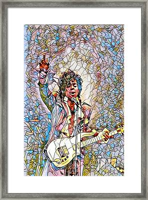 My Name Is Prince - Stained Glass Framed Print