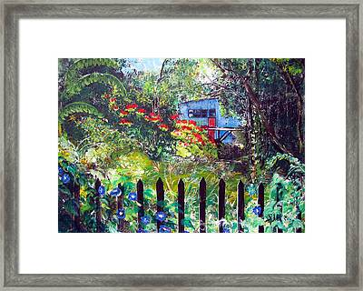 My Neighbors Garden Framed Print by Sarah Hornsby