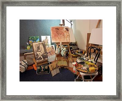 My New Studio Framed Print by Charles Peck