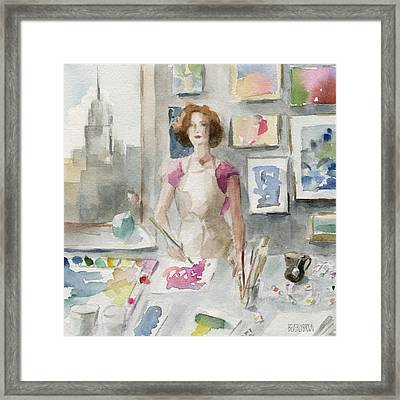 My New York Studio Framed Print by Beverly Brown