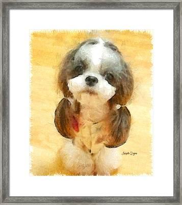 My Nice Pet - Da Framed Print by Leonardo Digenio