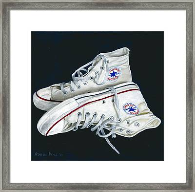 My Old All Stars Framed Print by Rob De Vries