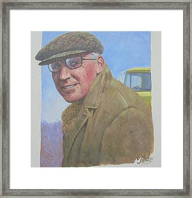 Framed Print featuring the painting My Old Boss 1965. by Mike Jeffries