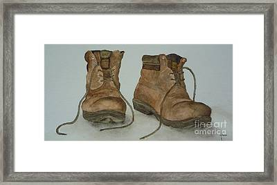 My Old Hiking Boots Framed Print