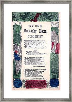 My Old Kentucky Home, Good Night Framed Print by Everett