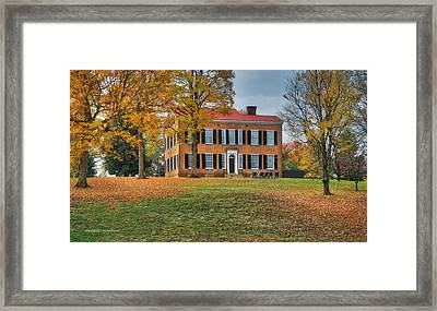 My Old Kentucky Home Framed Print