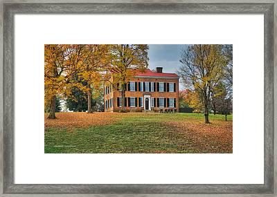 My Old Kentucky Home Framed Print