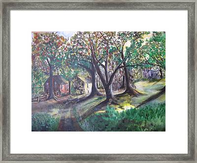 Framed Print featuring the painting My Old Southern Plantation Home by Gary Smith
