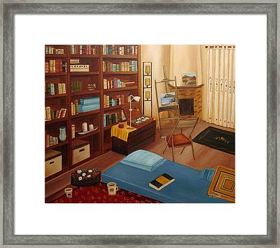 My Old Study Framed Print by Angeles M Pomata