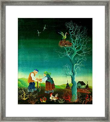 My Old Village  Framed Print by Leon Zernitsky