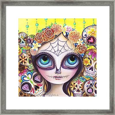 My Original sugar Skull Princess Framed Print