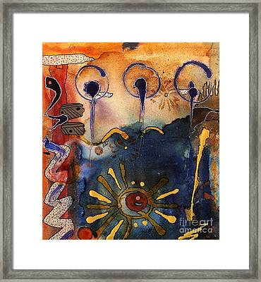My Own Painted Desert - Completed Framed Print by Angela L Walker