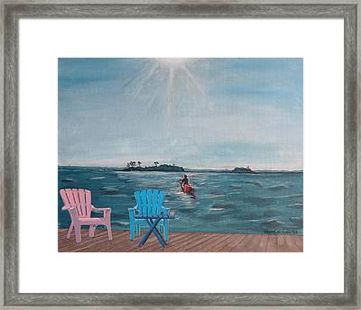 My Own Particular Harbor Framed Print