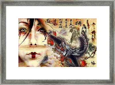Toyotama-hime Dragon Goddess Framed Print