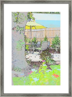 My Patio Framed Print