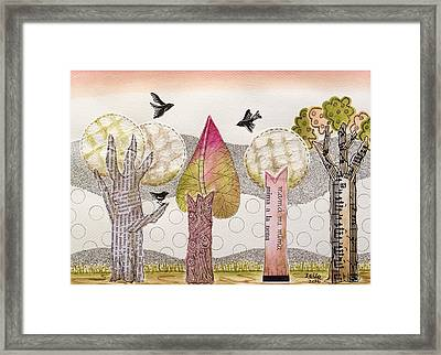 My Pink Trees Framed Print