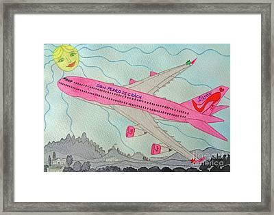 My Pinups Airplane Framed Print