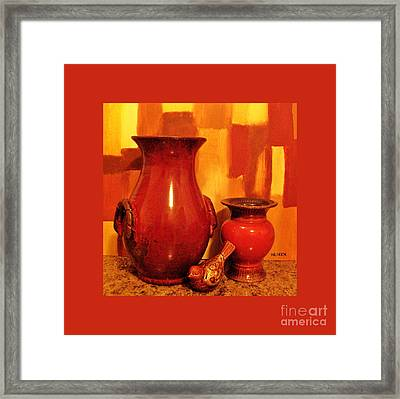My Pottery Picture Framed Print by Marsha Heiken