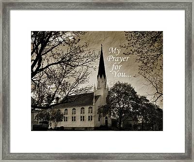 Framed Print featuring the photograph My Prayer For You by Joanne Coyle