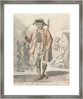 My Pretty Little Ginny Tarters For A Ha'penny A Stick  Framed Print by Paul Sandby