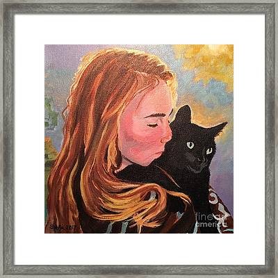 My Purring Friend Whiskers Framed Print