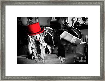 My Red Hat Framed Print