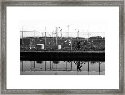 My Ride To Work Framed Print by Jez C Self