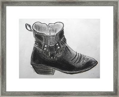 My Right Boot Framed Print