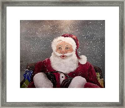 My Santa Framed Print by Laura Brown