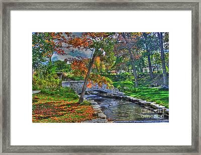 My Secret Garden-fall Time Framed Print by Robert Pearson