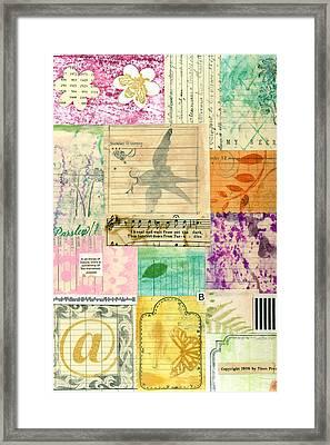 My Secret - Paper Collage Framed Print by Sandra Foster