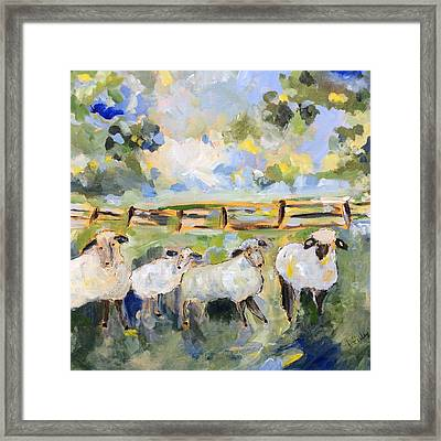 My Sheep Will Follow Me Framed Print