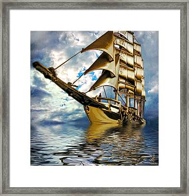 My Ship Comes In Framed Print by Pennie  McCracken