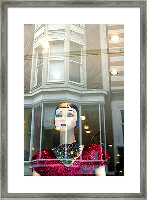 My Shop And I Say Who Comes In Framed Print by Jez C Self