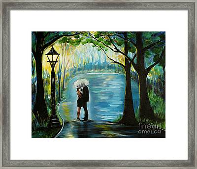 Framed Print featuring the painting My Soulmate by Leslie Allen
