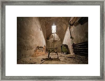 My Stool Framed Print by Kristopher Schoenleber