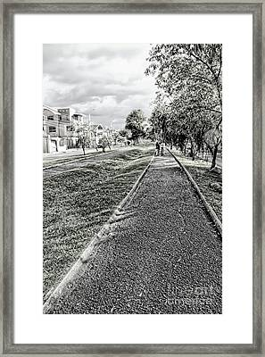 Framed Print featuring the photograph My Street II by Al Bourassa
