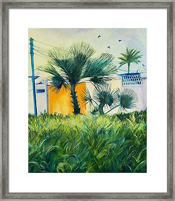 My Street Orange Framed Print by Chana Helen Rosenberg