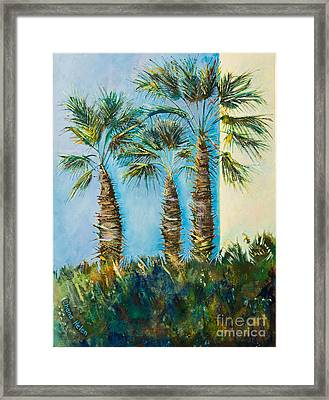My Street, Three Trees Framed Print by Chana Helen Rosenberg