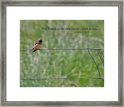 My Strength Framed Print