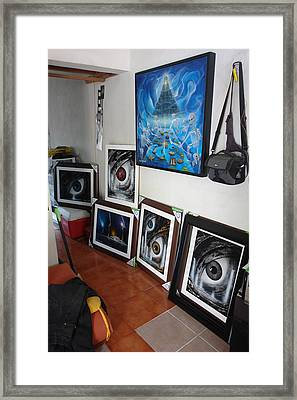 My Studio 2 Framed Print by Angel Ortiz