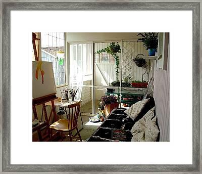 My Summer Studio Framed Print by Carola Ann-Margret Forsberg