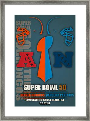 My Super Bowl 50 Broncos Panthers 4 Framed Print by Joe Hamilton